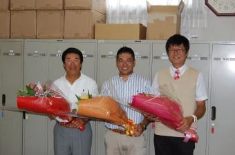向かって左から、角先生、平中先生、佐藤先生