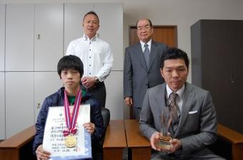 左前:田中君、右前:石原監督です