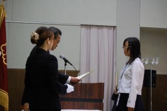 作文コンクール表彰式