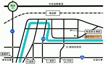 瑞浪市総合文化センター地図